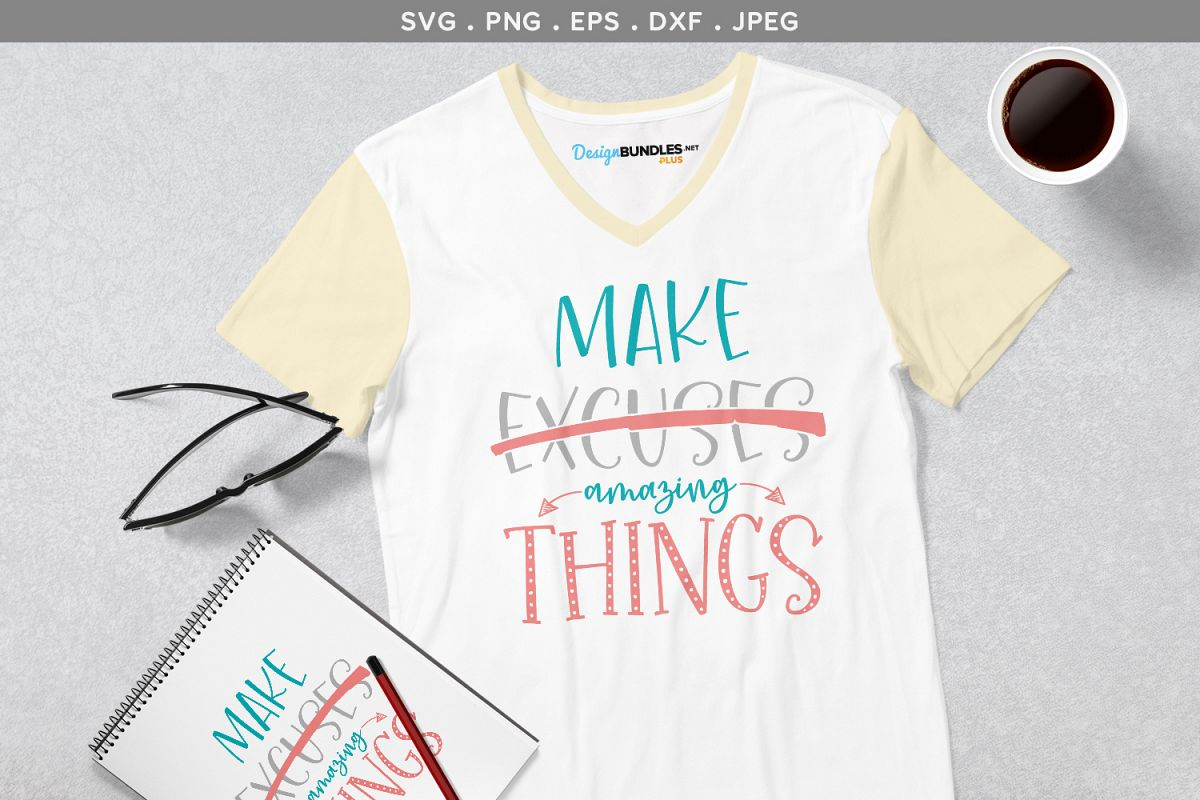 Make Amazing Things - svg cut file & printables example image 1