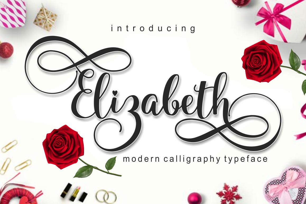 Elizabeth Script example image 1
