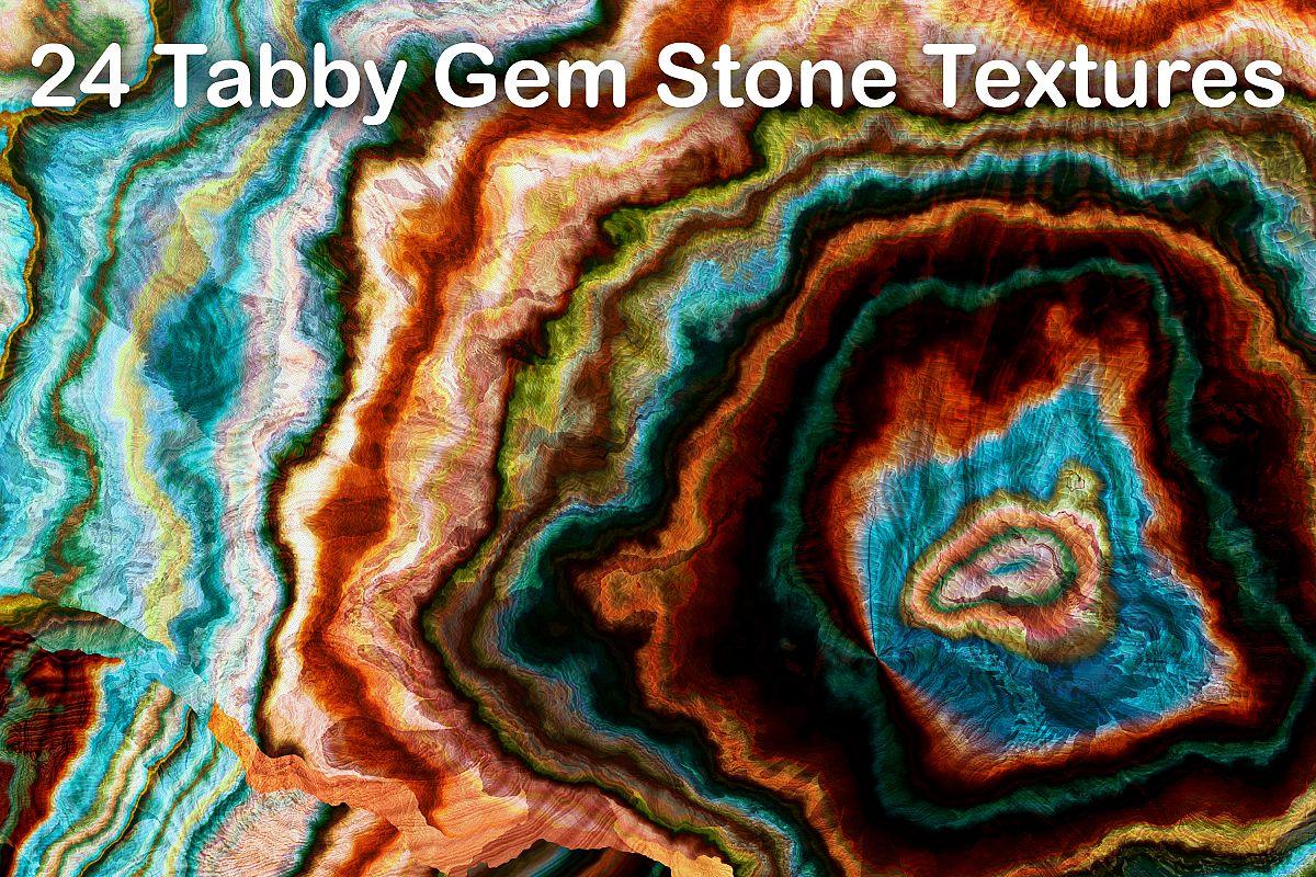 24 Tabby Onyx Gem Stone Textures - High Resolution JPG Files example image 1
