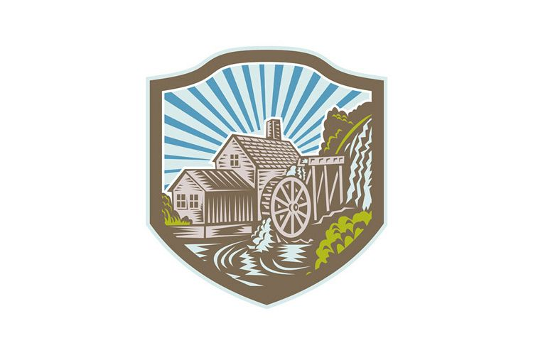 Watermill House Shield Retro example image 1