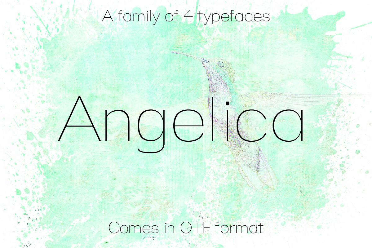 ANGELICA, A Thin Typeface example image 1