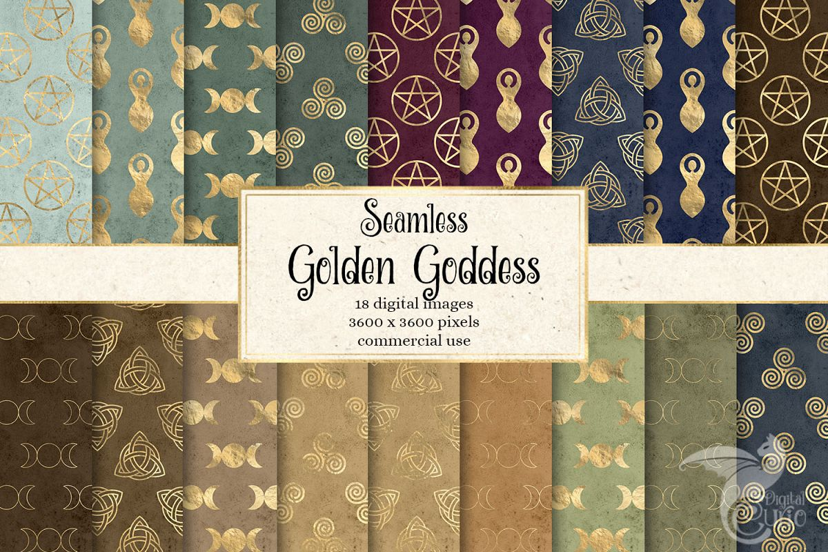Golden Goddess Digital Paper example image 1
