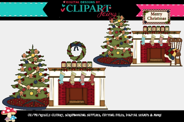 Christmas Fireplaces 1 example image 1