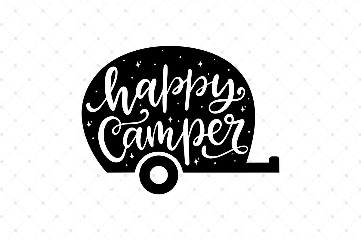 Happy Camper SVG Cut Files Example Image