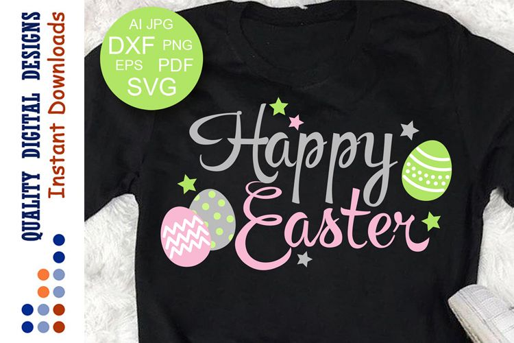 Happy Easter svg Eggs clipart Cutting Files example image 1