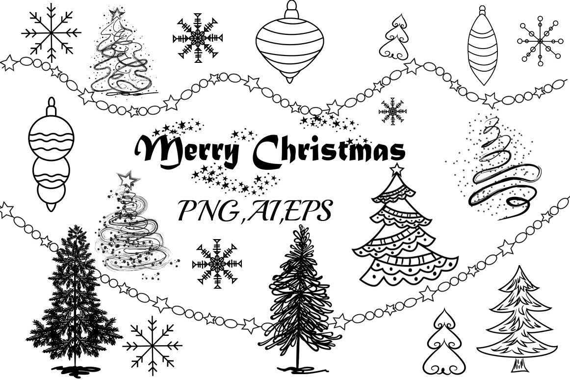 Christmas Tree Clip Art example image 1