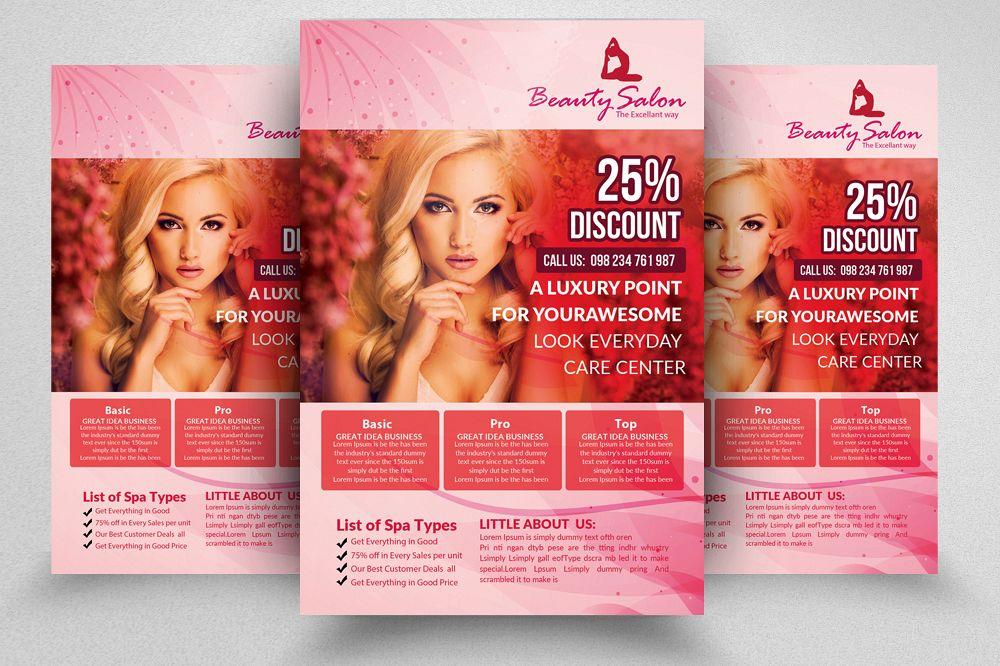 Beauty Care Salon Flyer Template