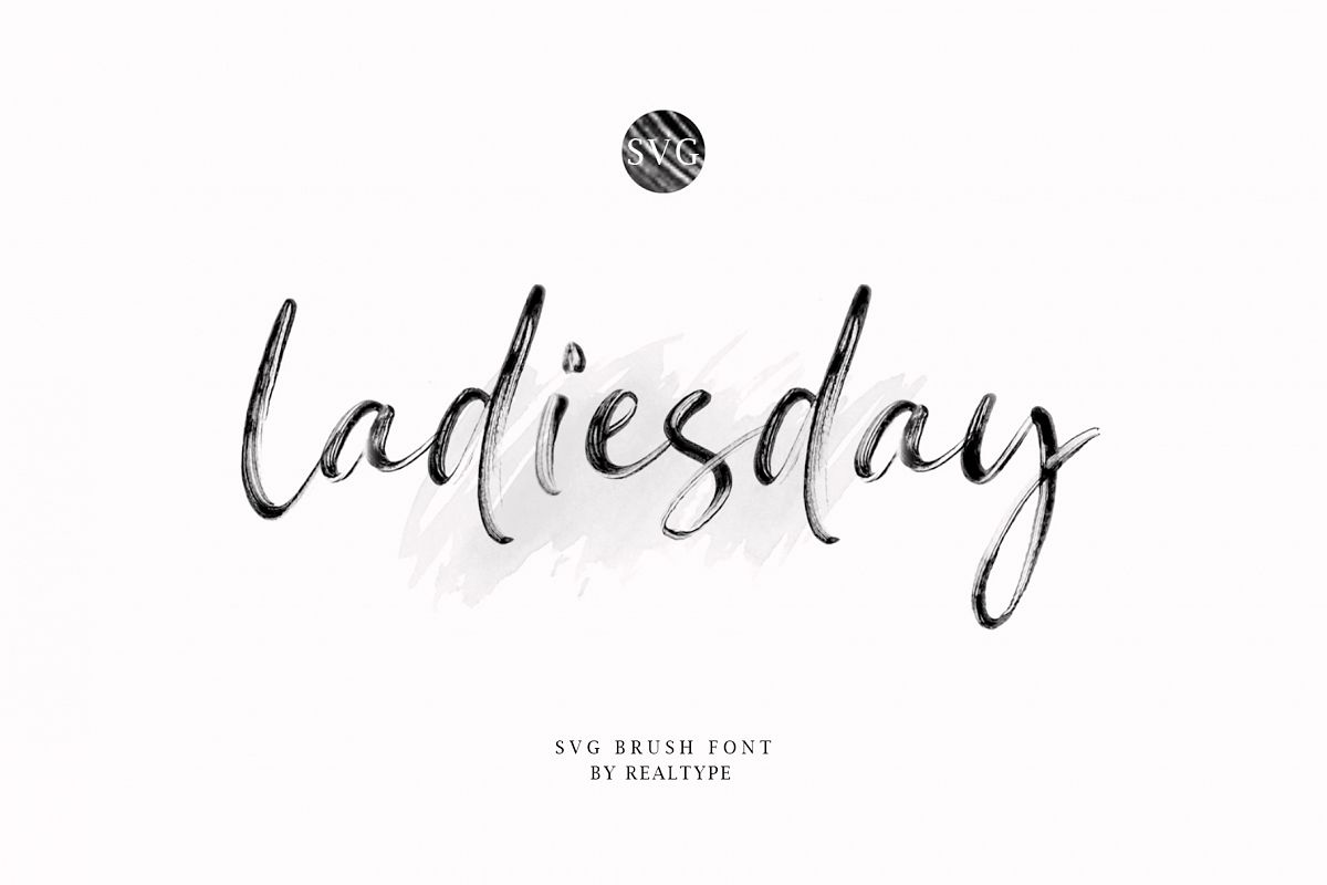 Ladiesday SVG & Brush Font example image 1