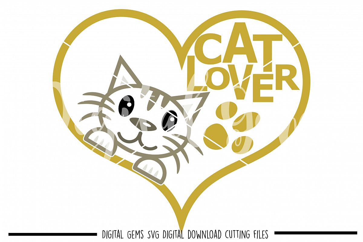 Cat lover SVG / PNG / EPS / DXF Files example image 1