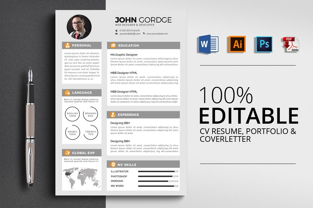 Resume Cv Word Template