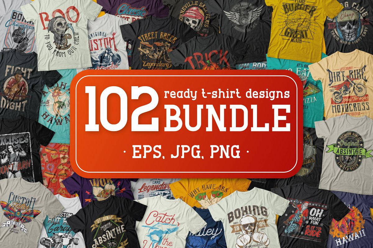 102 ready t-shirt designs BUNDLE example image 1