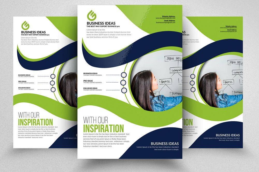 business orientation flyer template ad