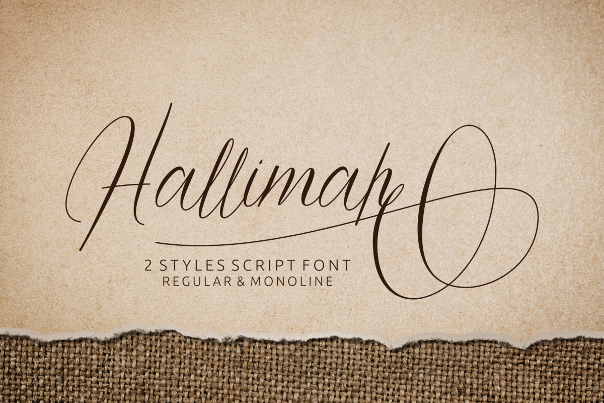 Hallimah Script Font example image 1