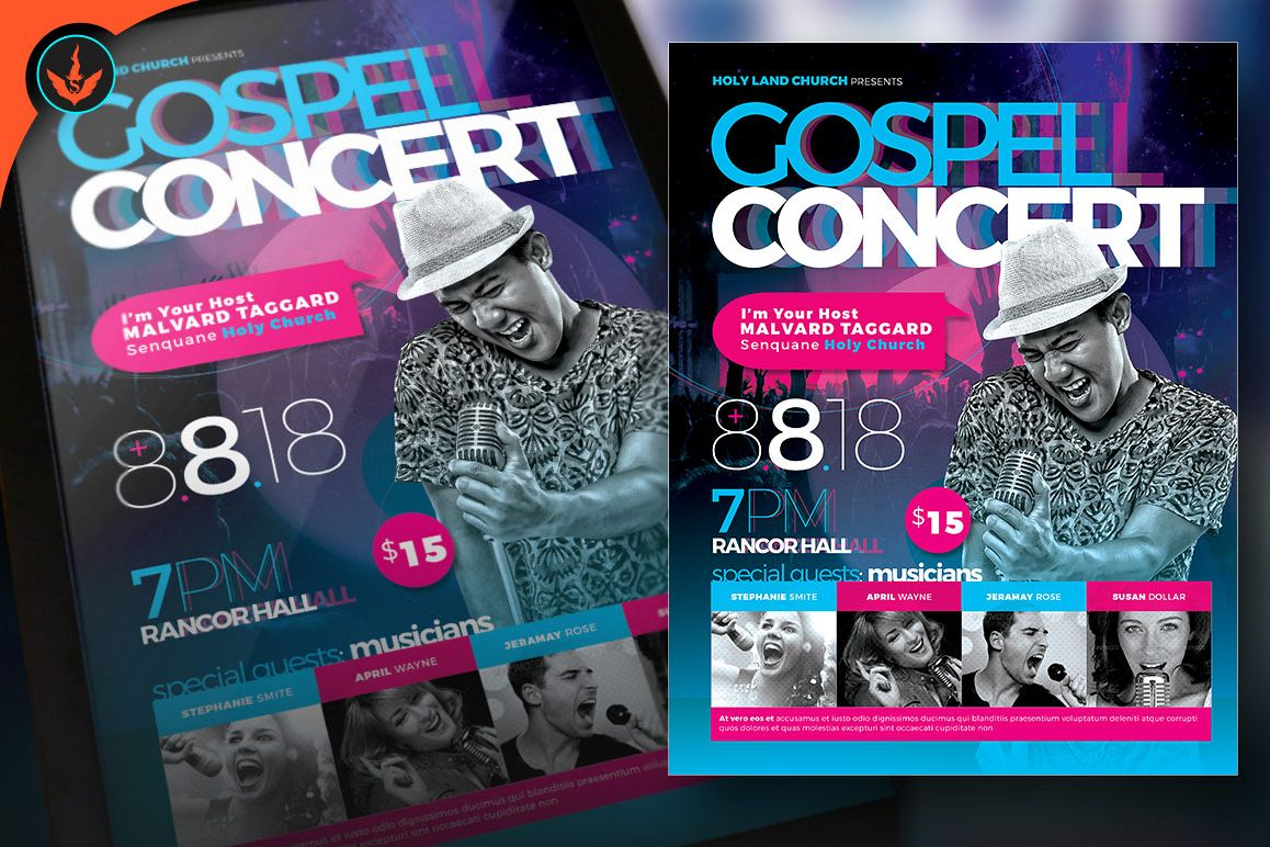 Cosmic Gospel Concert Flyer Template By Design Bundles