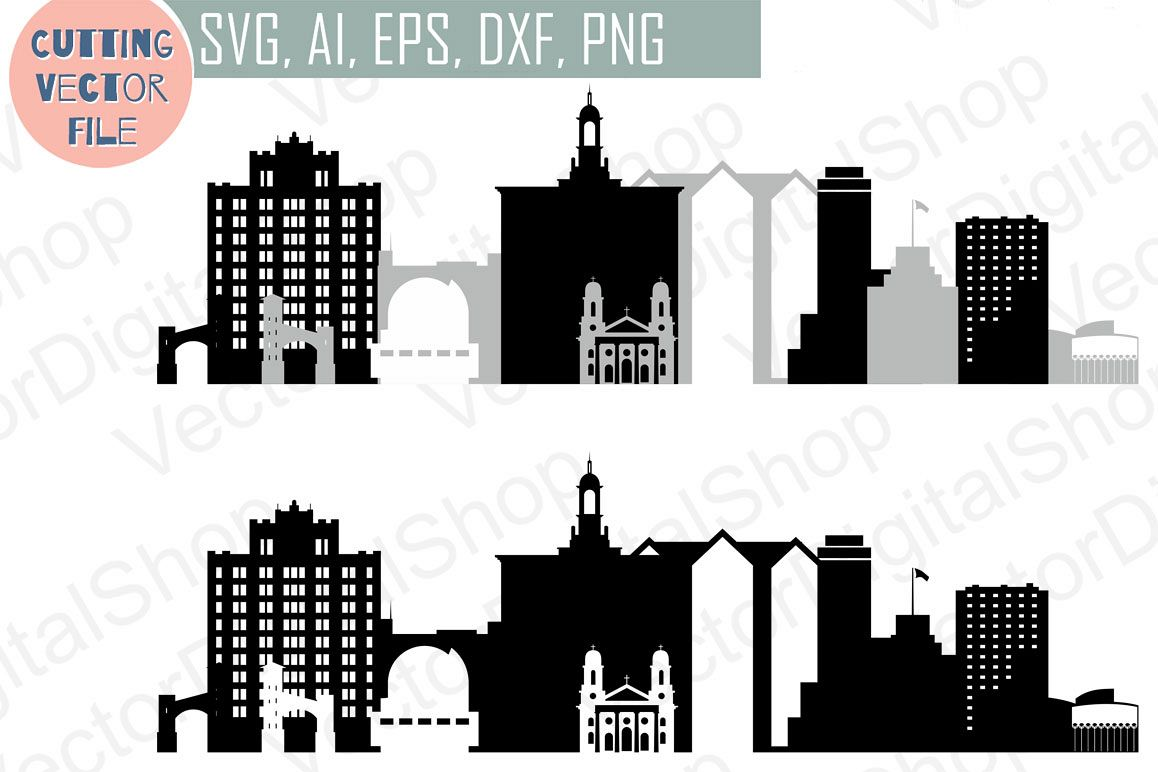 San Jose Vector, California Skyline USA city, SVG, JPG, PNG, DWG, CDR, EPS, AI example image 1