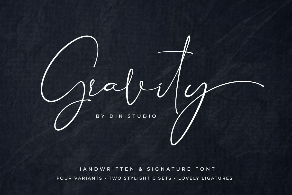 Gravity-Handwritten & Signature example image 1