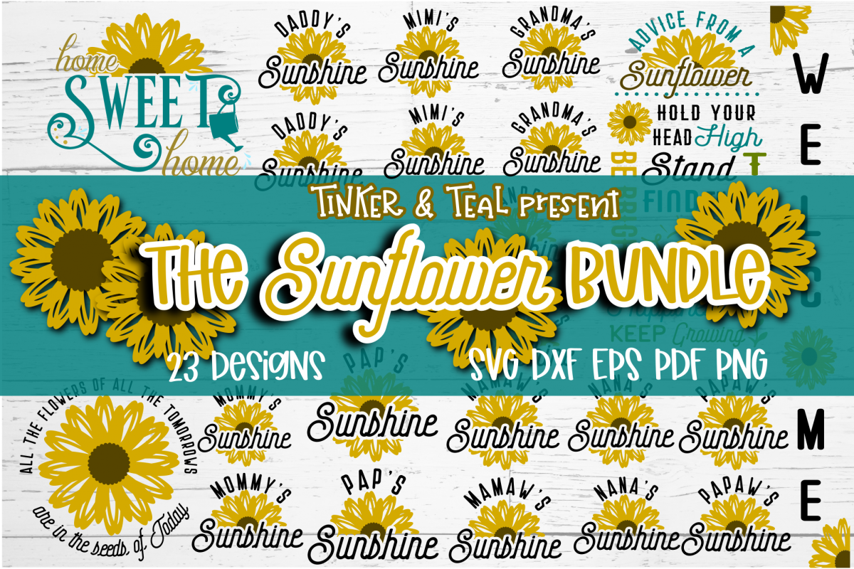Sunflower SVG Bundle example image 1
