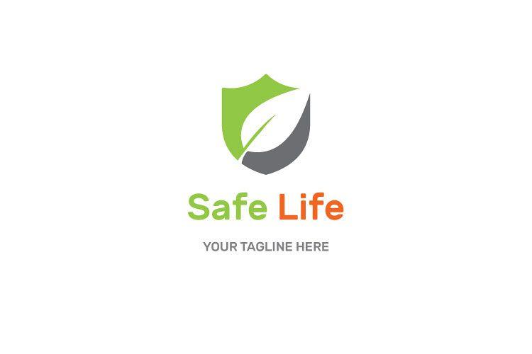 Shield Leaf Logo Design example image 1