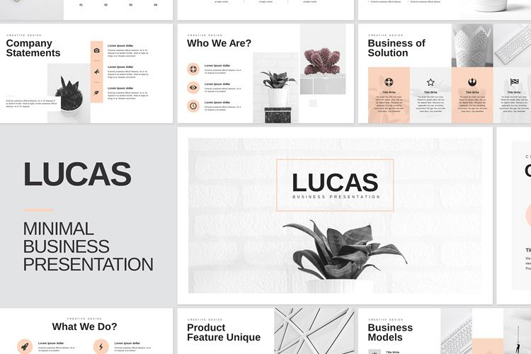 Minimal Google Slides Template example image 1