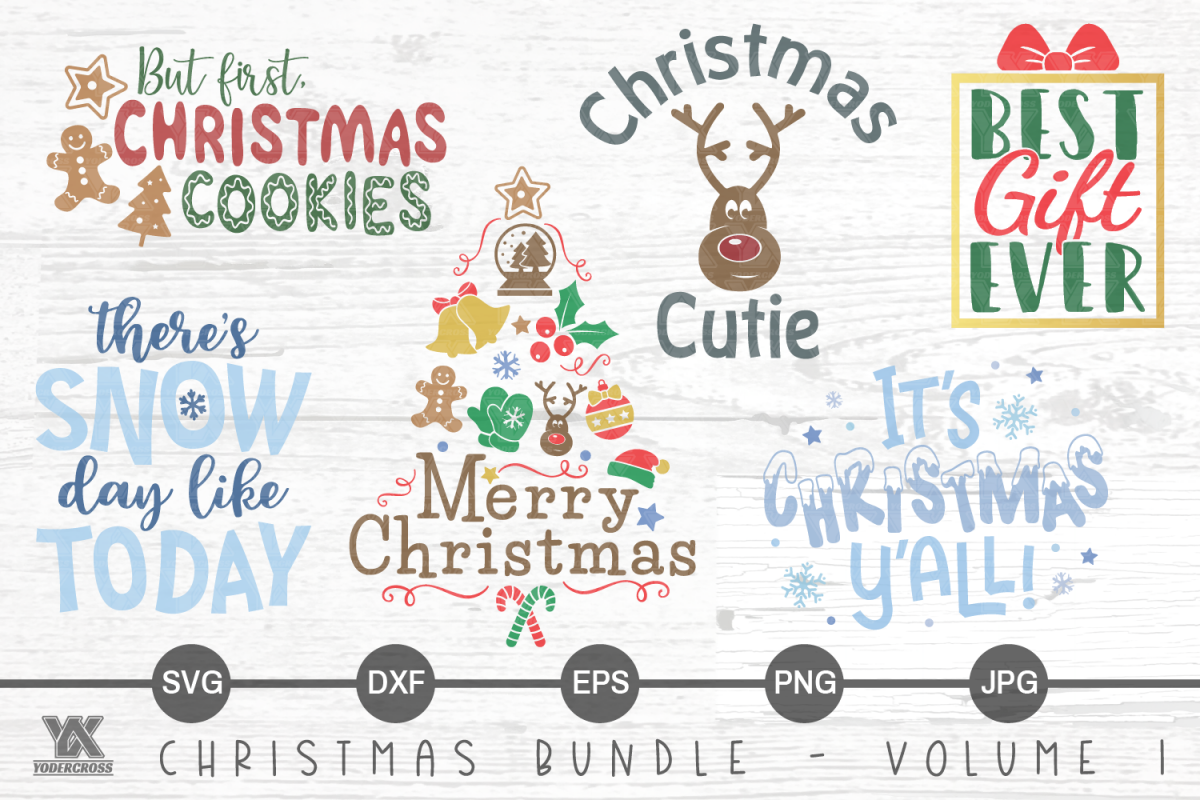 Christmas SVG Bundle Volume 1 example image 1