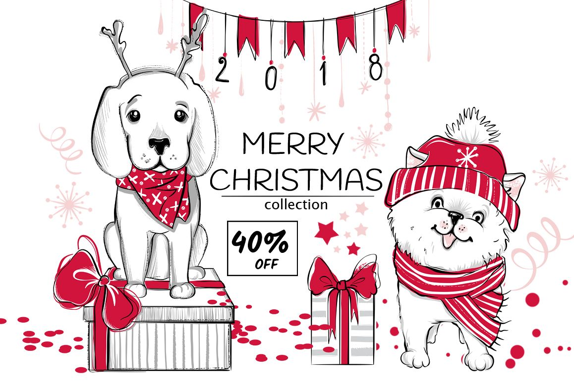 Fun Christmas animals kit