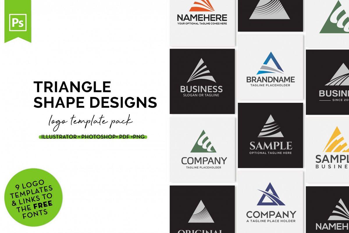 Triangle Logo Design Set example image 1