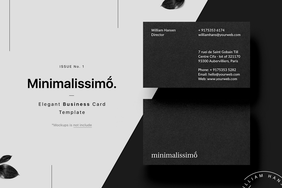 Minimalissimo business card template minimalissimo business card template example image 1 wajeb Images