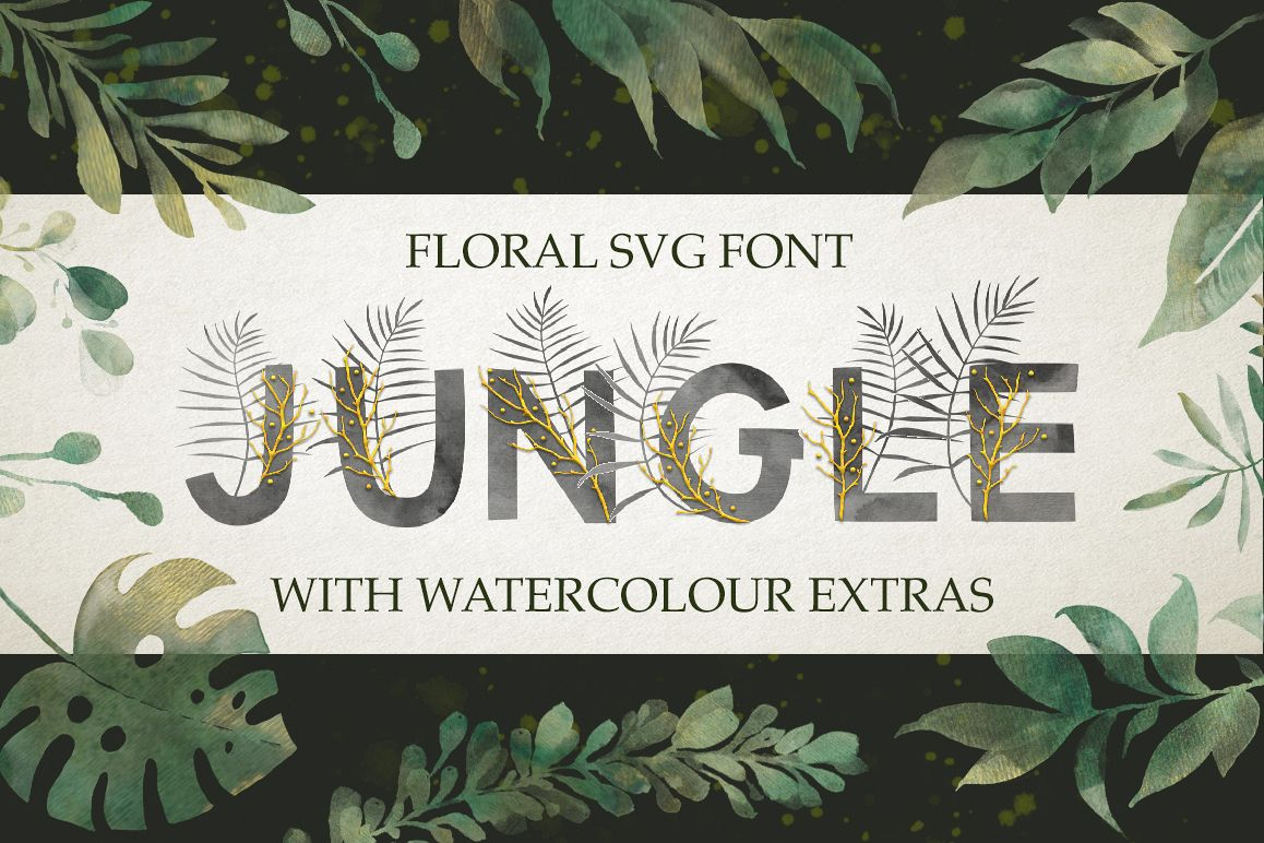 Jungle. SVG font extras example image 1