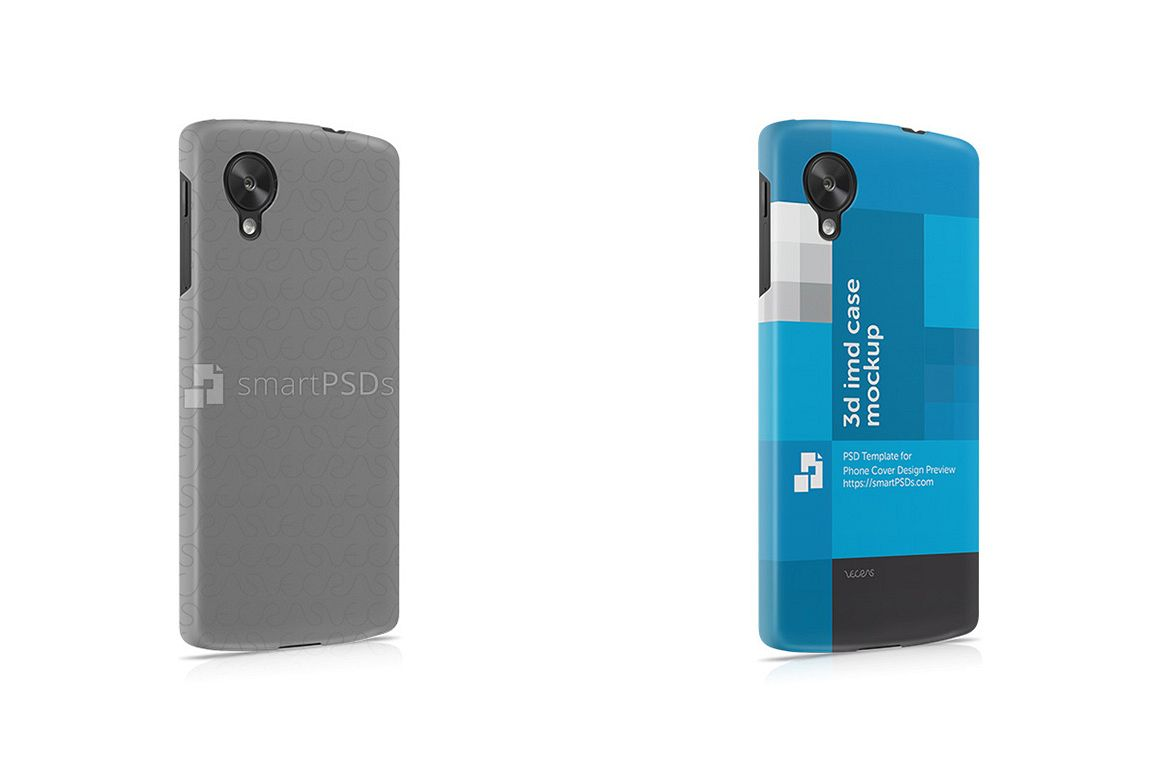 Google Nexus 5 3d IMD Phone Cover Design Template- Right view example image 1