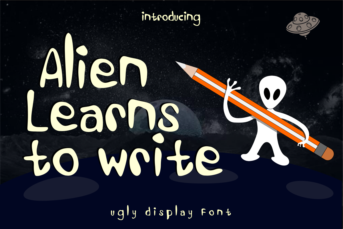 Alien Learns To Write example image 1