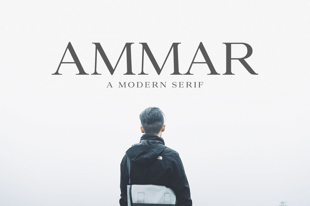 Ammar A Modern Serif Family example image 1