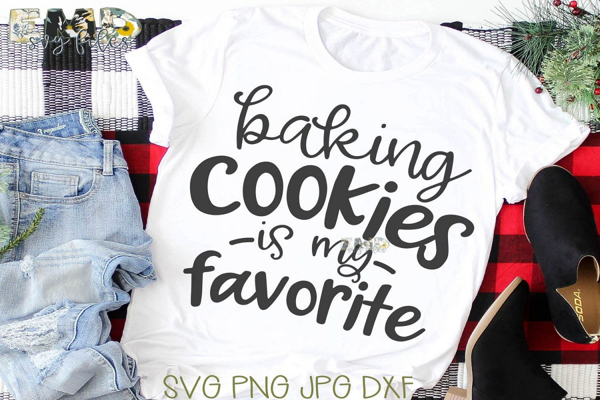 Christmas Baking Cookies Svg File   Holiday Svg example image 1