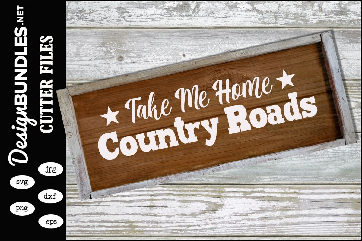 Country Roads SVG example image 1