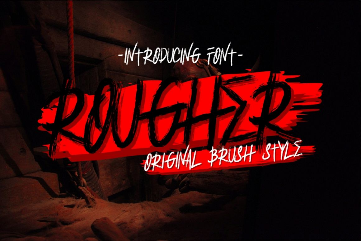 Rougher Brush Font example image 1