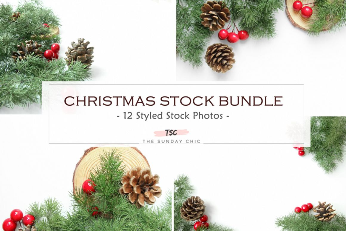 Christmas Stock Bundle / Background Image / Red / Green example image 1