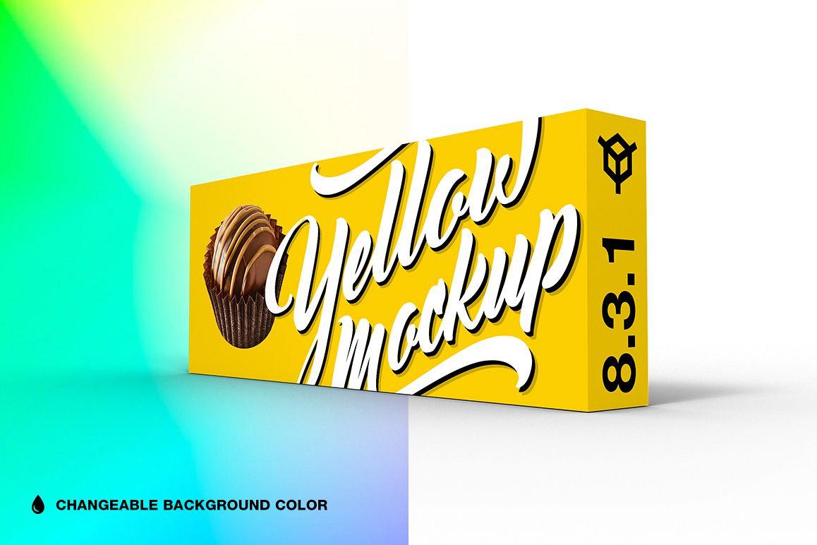 8.3.1 Simple 3D Box Mockup PSD example image 1