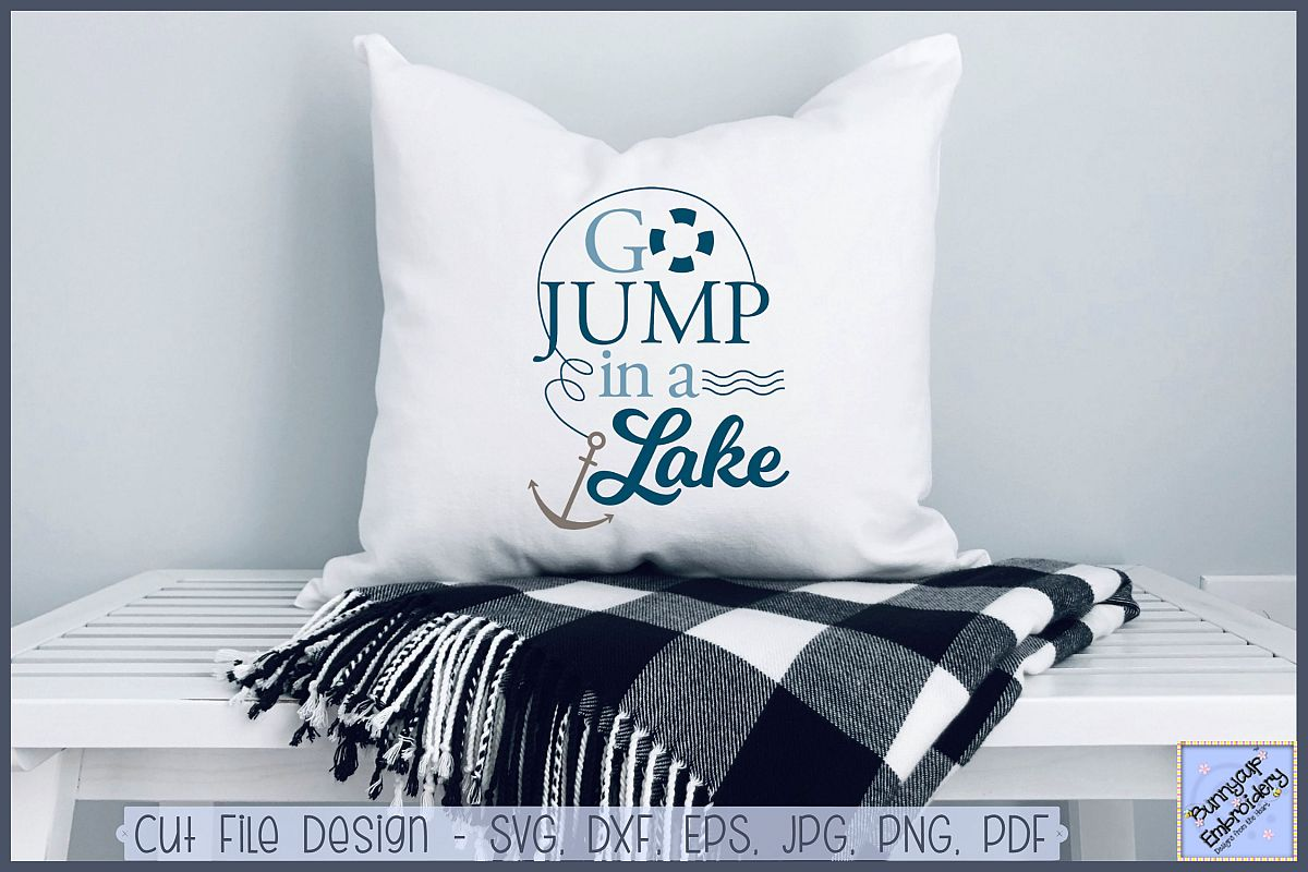 Go Jump In A Lake - SVG, Clipart, Printable example image 1