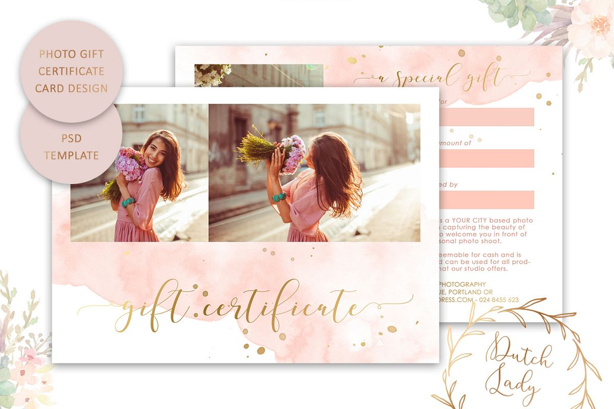 Photo Gift Card Template for Adobe Photoshop - #43 example image 1