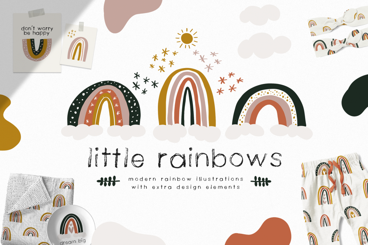 Little Rainbows - Clip Art Collection example image 1