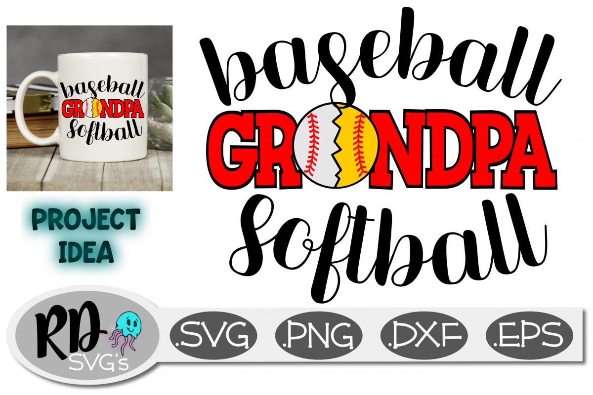 Baseball Softball Grandpa - A Sports SVG cut file example image 1