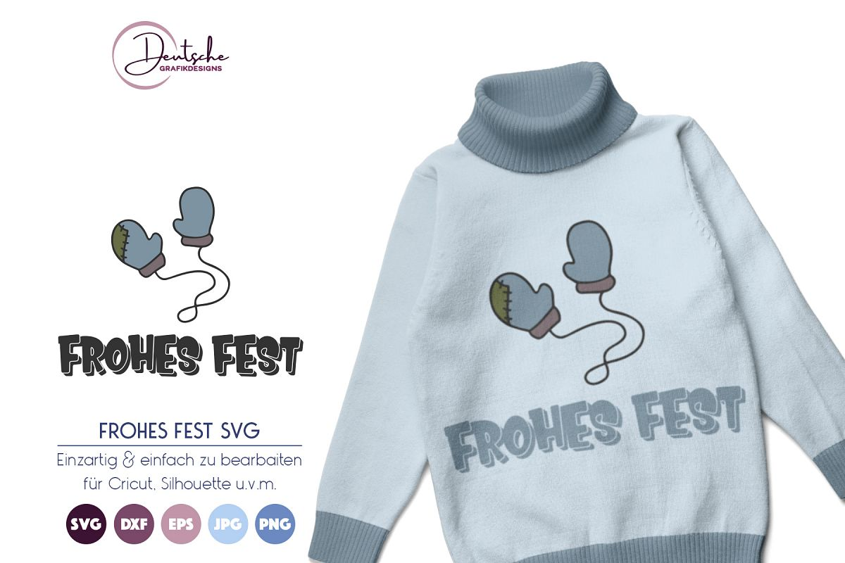 Frohes Fest SVG | Winter SVG example image 1