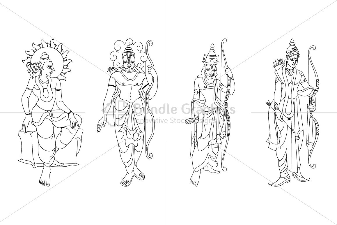 Lord Rama - Artistic Illustrations example image 1