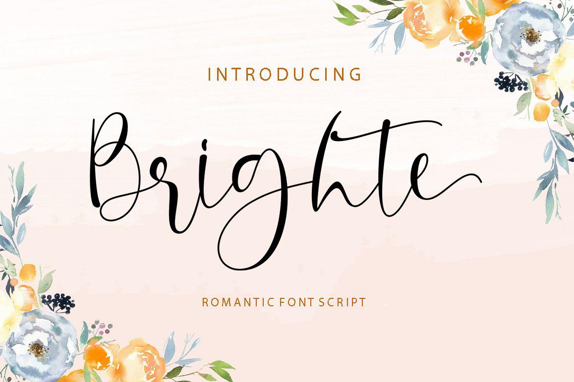 Brighte Script example image 1