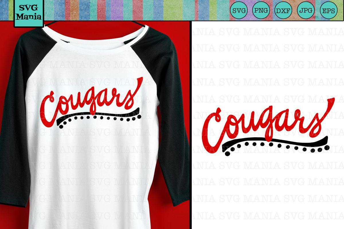 Cougars SVG File, Cougars Sports Team SVG, Cougar Spirit SVG example image 1