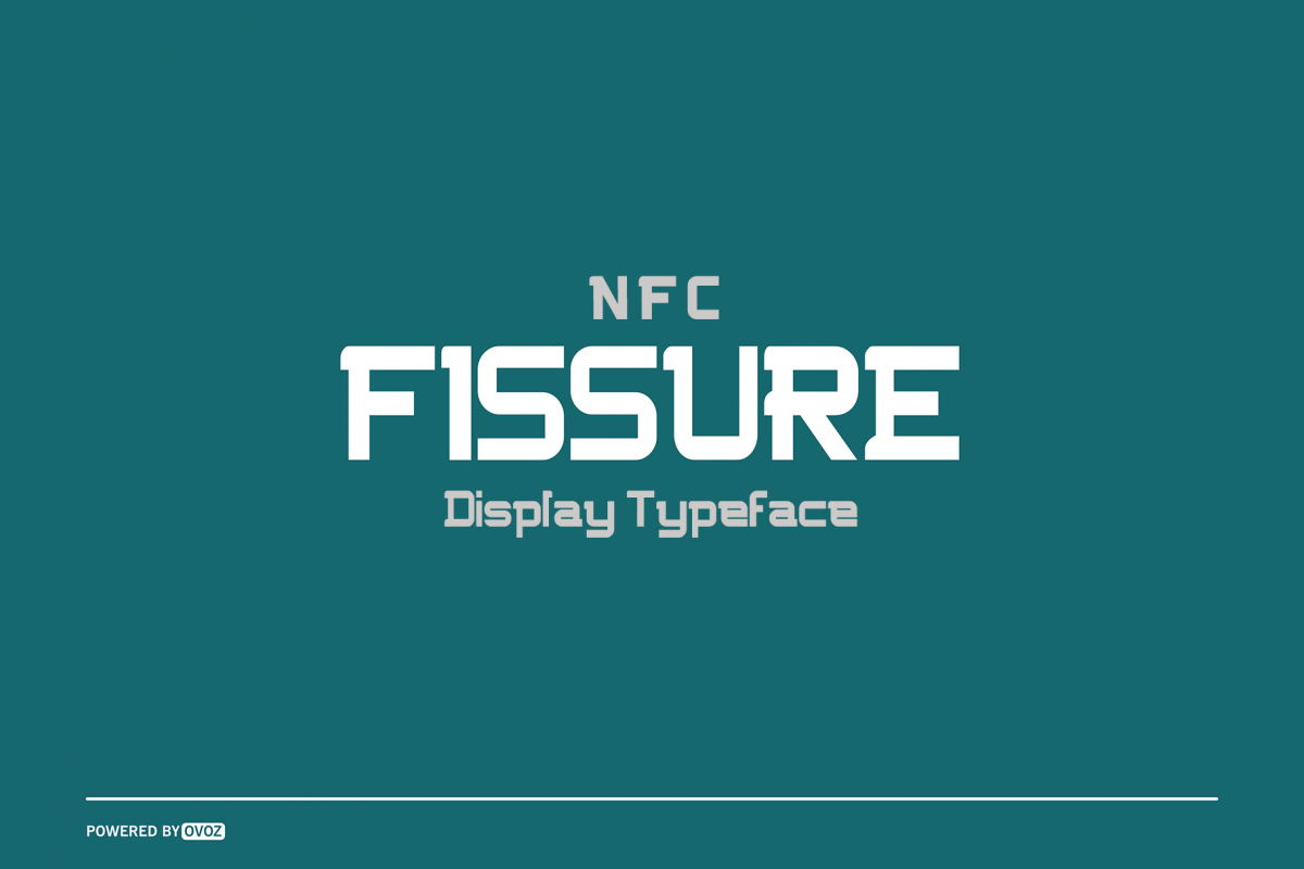 NFC FISSURE DISPLAY FONT example image 1