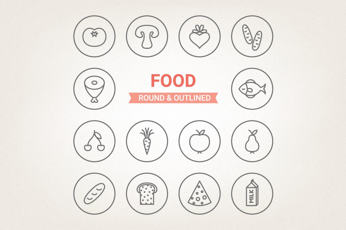 Circle Food Icons example image 1