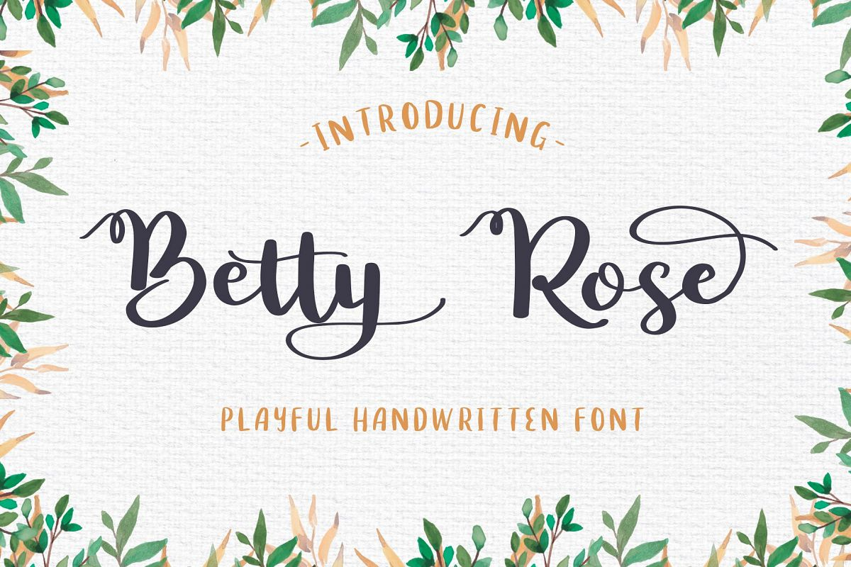 Betty Rose - Handwritten Font example image 1