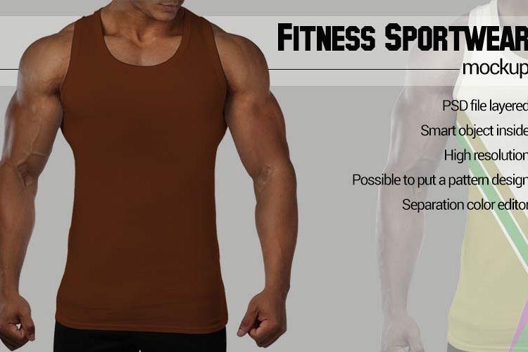 Black man Fitness Mockup example image 1