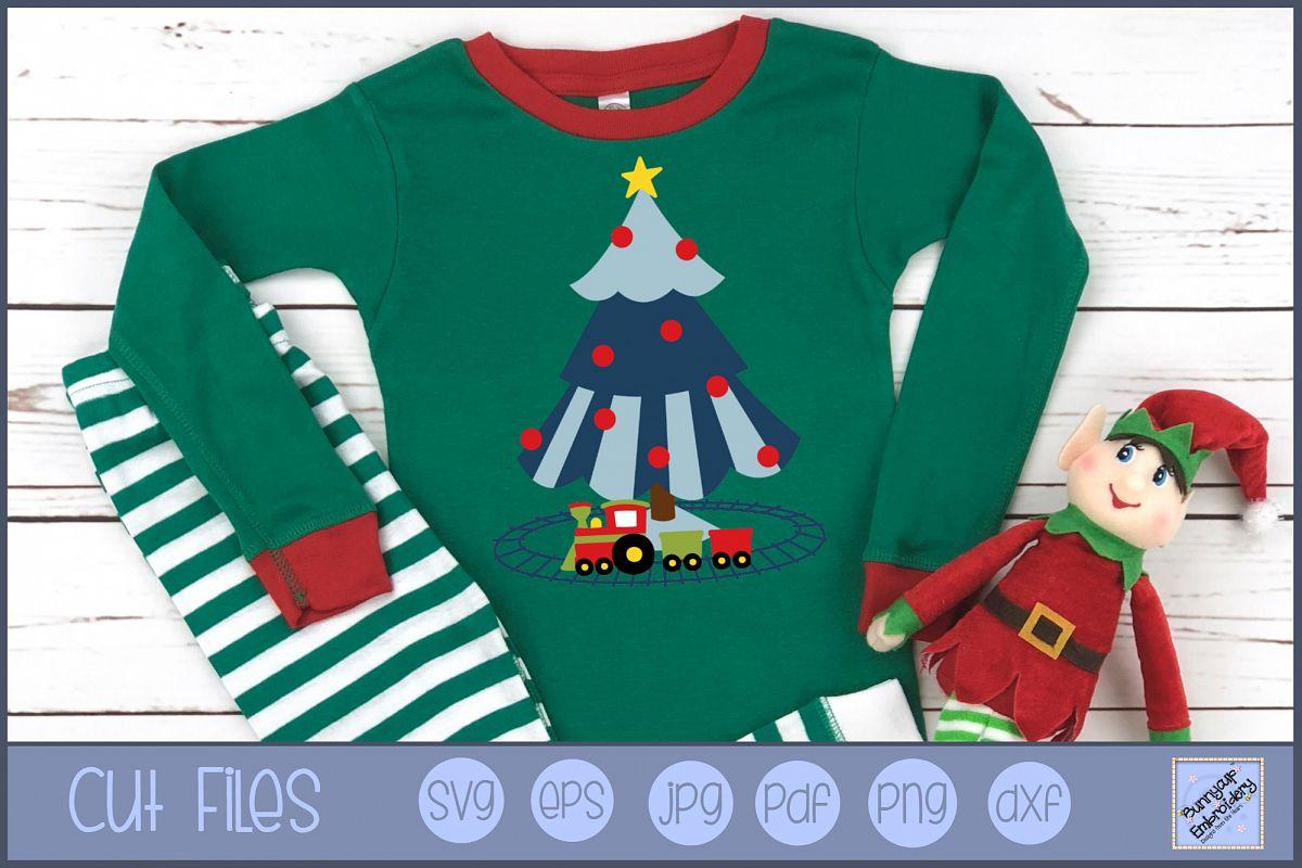 Boys Christmas Tree - SVG, Clipart, Printable example image 1