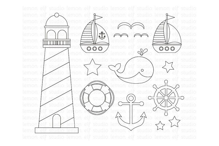 Sailing Away-Digital Stamp (LES.DS13) example image 1